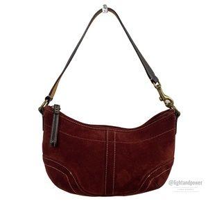 Coach Soho Burgundy Suede Mini Shoulder Bag EUC